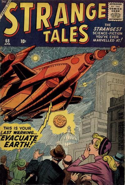 Cover for Strange Tales (Marvel, 1951 series) #68