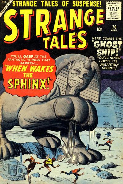 Cover for Strange Tales (Marvel, 1951 series) #70
