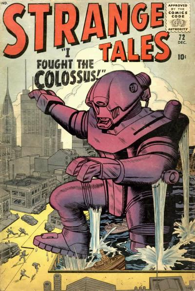 Cover for Strange Tales (Marvel, 1951 series) #72