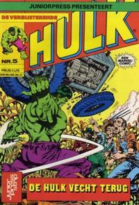 Cover Thumbnail for De verbijsterende Hulk (JuniorPress, 1979 series) #5