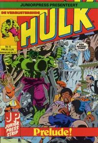 Cover Thumbnail for De verbijsterende Hulk (JuniorPress, 1979 series) #6