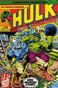Cover Thumbnail for De verbijsterende Hulk (Juniorpress, 1979 series) #22