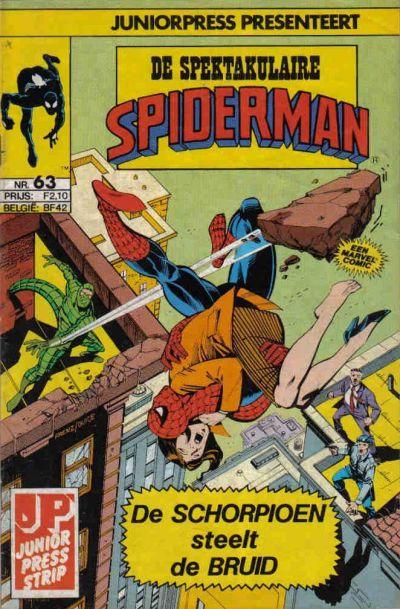 Cover for De spectaculaire Spider-Man [De spektakulaire Spiderman] (Juniorpress, 1979 series) #63