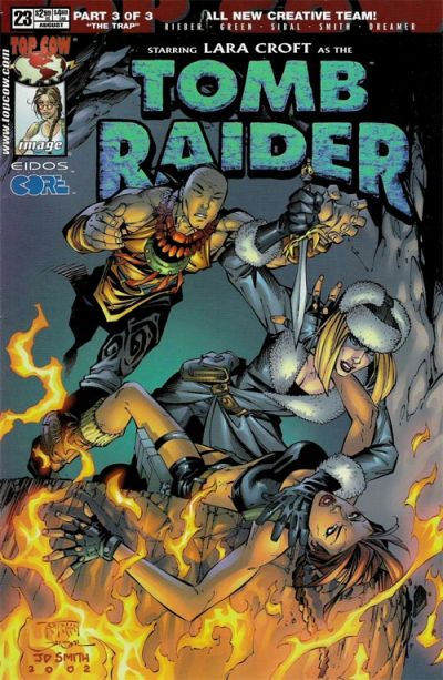 Cover for Tomb Raider: The Series (Image, 1999 series) #23 [Newsstand]