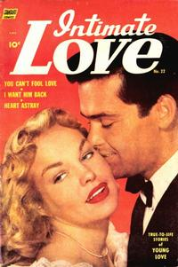 Cover for Intimate Love (Pines, 1950 series) #22