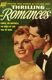 Cover Thumbnail for Thrilling Romances (Pines, 1949 series) #23