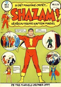 Cover Thumbnail for Shazam! (Illustrerte Klassikere / Williams Forlag, 1974 series) #5/1974