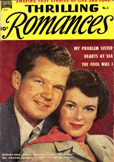 Cover for Thrilling Romances (Pines, 1949 series) #5