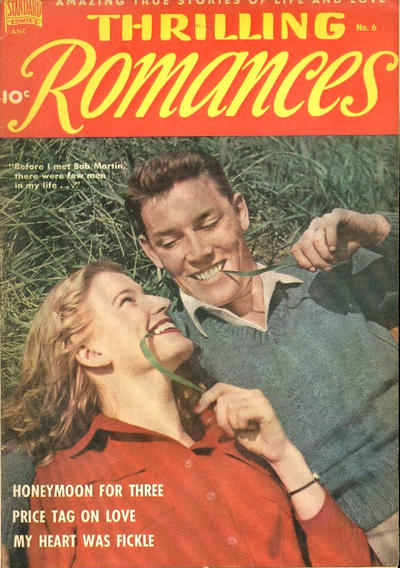 Cover for Thrilling Romances (Pines, 1949 series) #6