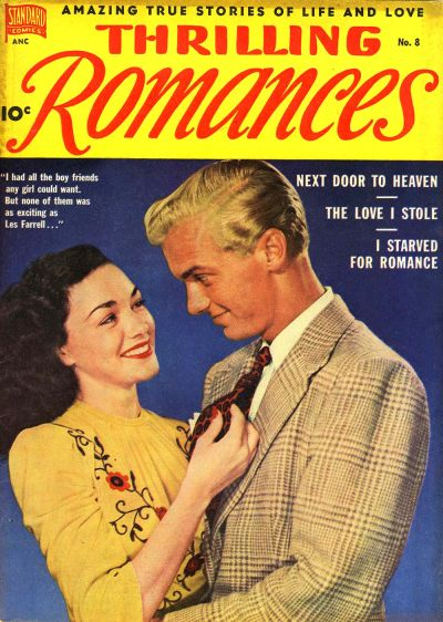 Cover for Thrilling Romances (Pines, 1949 series) #8