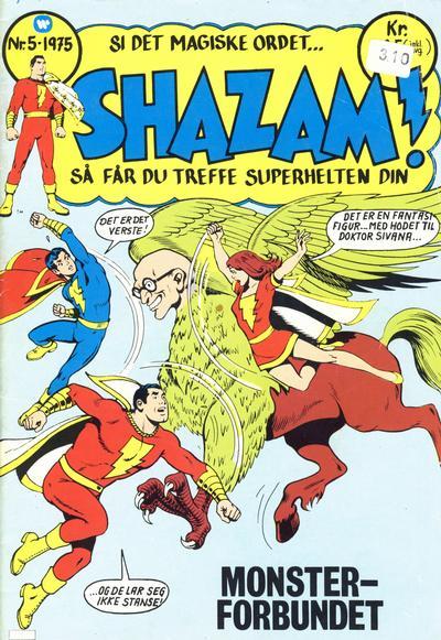 Cover for Shazam! (Illustrerte Klassikere / Williams Forlag, 1974 series) #5/1975