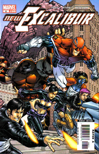 Cover for New Excalibur (Marvel, 2006 series) #8 [Direct Edition]