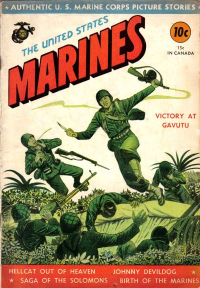 Cover for The United States Marines (Magazine Enterprises, 1943 series) #[1]