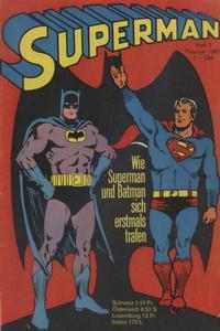 Cover Thumbnail for Superman (Egmont Ehapa, 1966 series) #2/1967