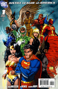 Cover Thumbnail for Justice League of America (DC, 2006 series) #1 [Michael Turner Cover]