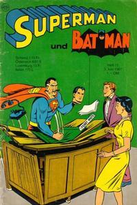 Cover Thumbnail for Superman (Egmont Ehapa, 1966 series) #11/1967