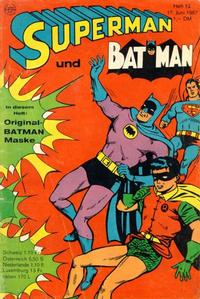 Cover Thumbnail for Superman (Egmont Ehapa, 1966 series) #12/1967