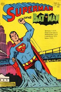 Cover Thumbnail for Superman (Egmont Ehapa, 1966 series) #13/1967