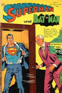 Cover Thumbnail for Superman (Egmont Ehapa, 1966 series) #17/1967