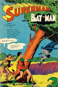 Cover Thumbnail for Superman (Egmont Ehapa, 1966 series) #21/1967