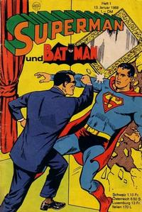 Cover Thumbnail for Superman (Egmont Ehapa, 1966 series) #1/1968