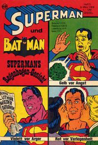 Cover Thumbnail for Superman (Egmont Ehapa, 1966 series) #5/1968