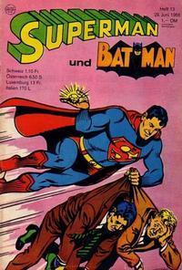 Cover Thumbnail for Superman (Egmont Ehapa, 1966 series) #13/1968