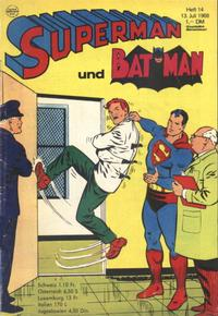 Cover Thumbnail for Superman (Egmont Ehapa, 1966 series) #14/1968