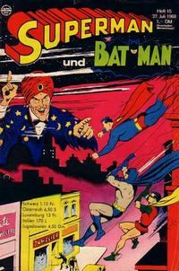 Cover Thumbnail for Superman (Egmont Ehapa, 1966 series) #15/1968