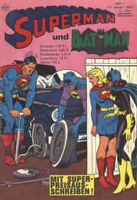 Cover Thumbnail for Superman (Egmont Ehapa, 1966 series) #1/1969