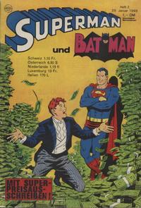 Cover Thumbnail for Superman (Egmont Ehapa, 1966 series) #2/1969
