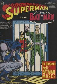 Cover Thumbnail for Superman (Egmont Ehapa, 1966 series) #3/1969