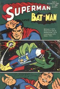 Cover Thumbnail for Superman (Egmont Ehapa, 1966 series) #4/1969
