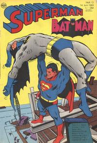 Cover Thumbnail for Superman (Egmont Ehapa, 1966 series) #12/1969