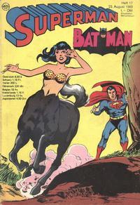 Cover Thumbnail for Superman (Egmont Ehapa, 1966 series) #17/1969