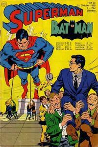 Cover for Superman (Egmont Ehapa, 1966 series) #22/1969