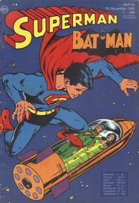 Cover Thumbnail for Superman (Egmont Ehapa, 1966 series) #24/1969