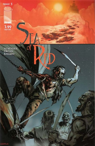 Cover for Sea of Red (Image, 2005 series) #5