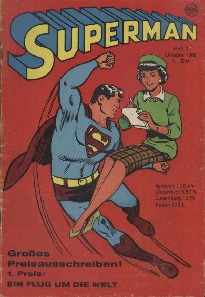 Cover for Superman (Egmont Ehapa, 1966 series) #2/1966