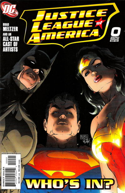Cover for Justice League of America (DC, 2006 series) #0 [Standard Cover]