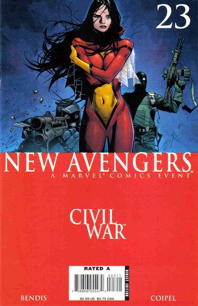 Cover for New Avengers (Marvel, 2005 series) #23 [Coipel Sketch Variant]