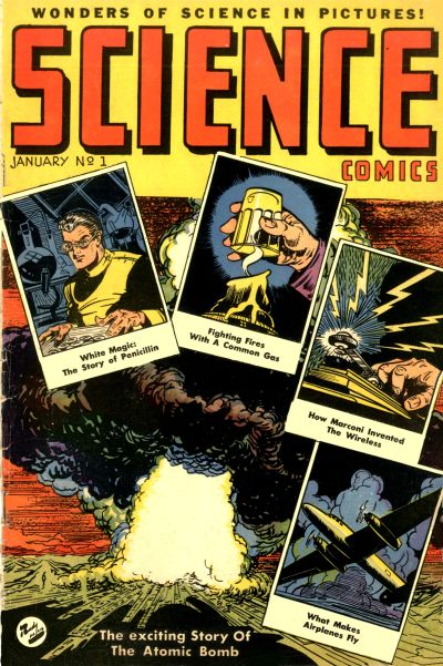 Cover for Science Comics (Ace Magazines, 1946 series) #1
