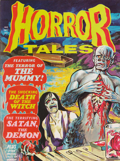 Cover for Horror Tales (Eerie Publications, 1969 series) #v3#1