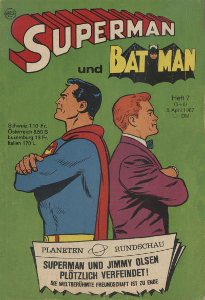 Cover for Superman (Egmont Ehapa, 1966 series) #7/1967