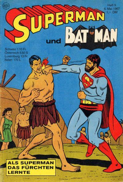 Cover for Superman (Egmont Ehapa, 1966 series) #9/1967