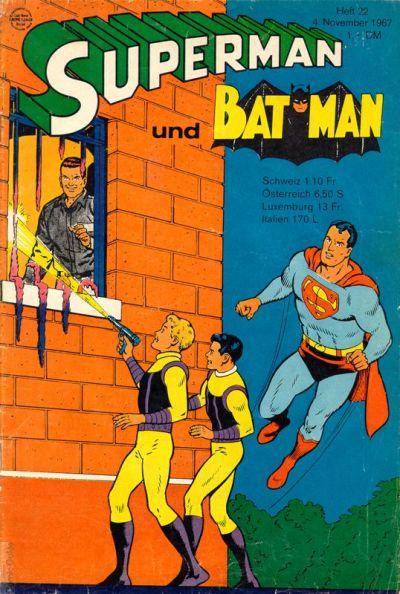 Cover for Superman (Egmont Ehapa, 1966 series) #22/1967