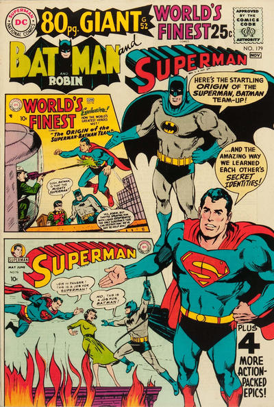 Cover for World's Finest Comics (DC, 1941 series) #179