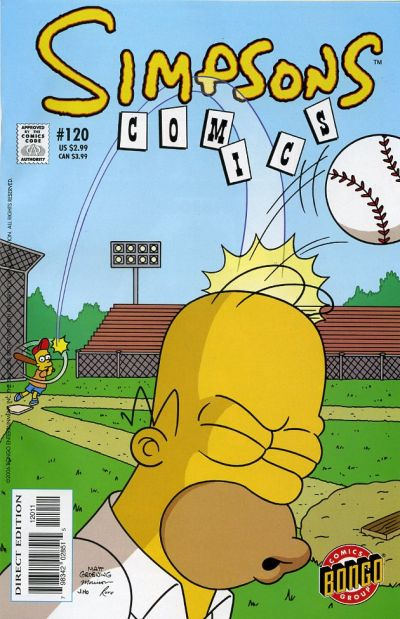 Cover for Simpsons Comics (Bongo, 1993 series) #120