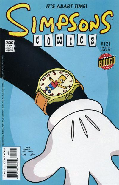 Cover for Simpsons Comics (Bongo, 1993 series) #121