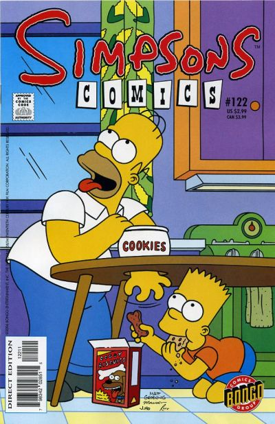 Cover for Simpsons Comics (Bongo, 1993 series) #122